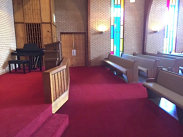 2016 renovation in progress 6 more pews, larger stage, plus more updates