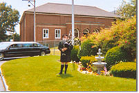 Mr. Fletcher, Bagpiper at Peck Funeral Homes