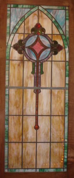 Stain glass from former Lake Street location