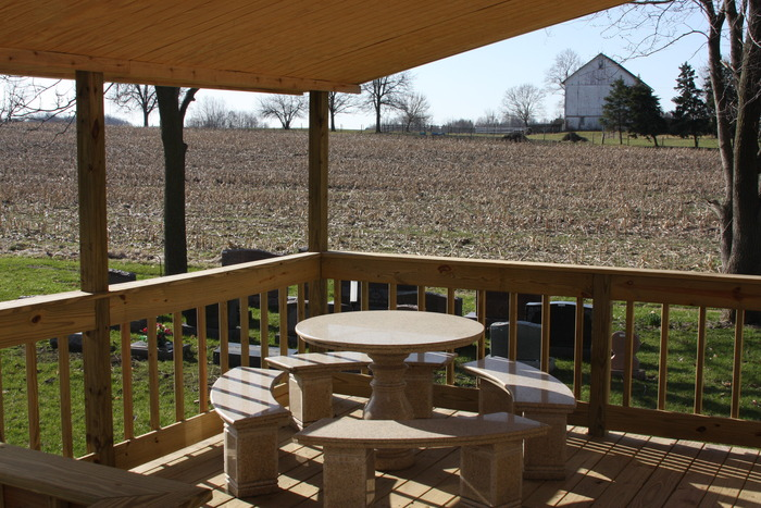 Deck behind the new Cemetery Office
