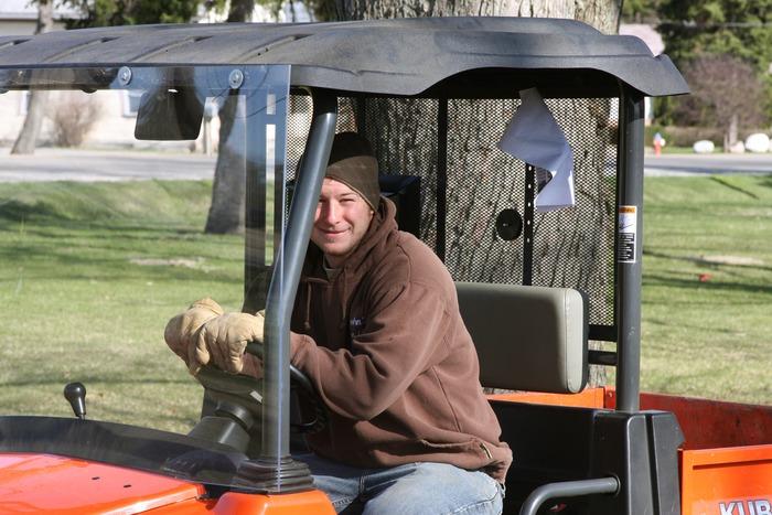 Adam, Part of the Grounds Crew