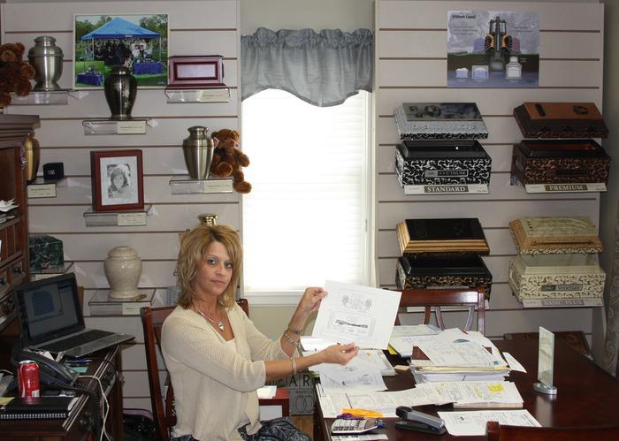 Kristi in her office