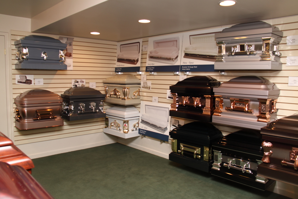 Perman Funeral Home Casket Display