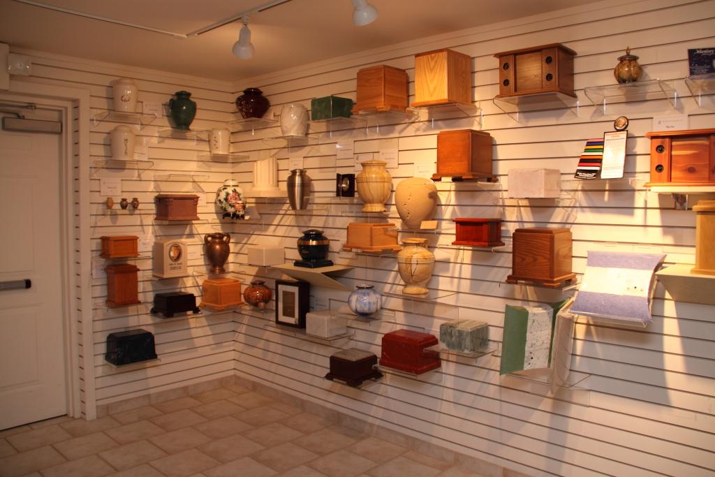 Perman Funeral Home Urn Display Room