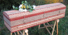 Natural Casket of Weaved Banana Leaf and Sawgrass