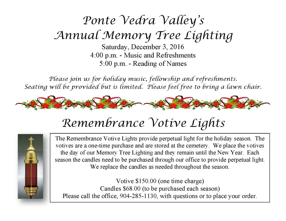 Annual Memory Tree Lighting