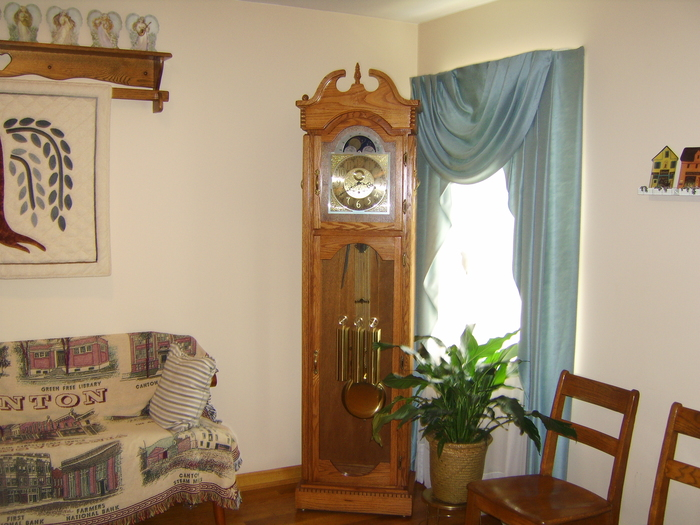 Lobby and Grandfather Clock made by Robert McGovern assisted by Bruce Watts