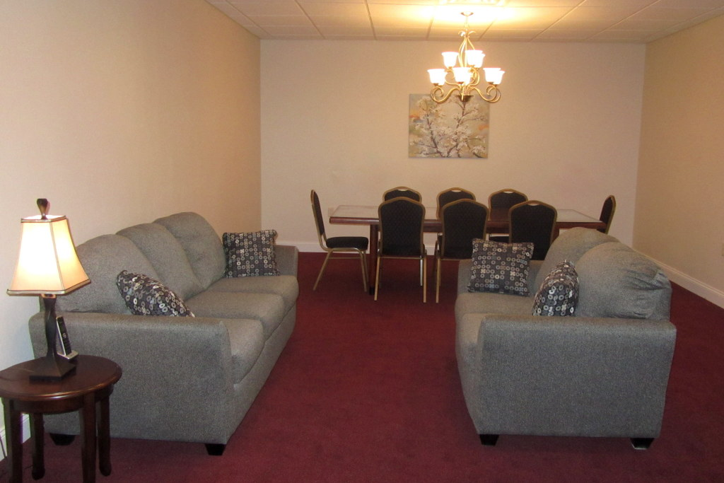 The arrangement room and family lounge