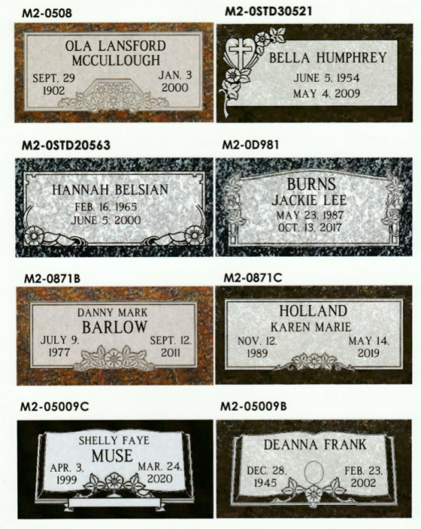 Monuments | Parsons-Canoe-Beggs Funeral Home | Collinsville