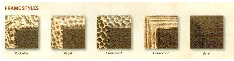 Bronze Marker Frame Styles