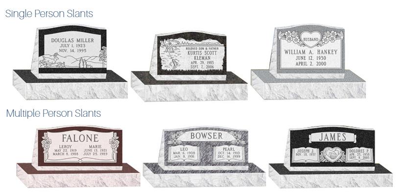 Slant Tombstones