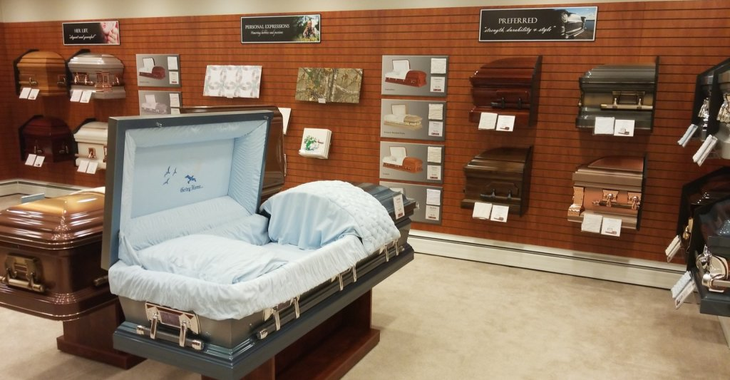 Parson Mortuary Casket Selection Room
