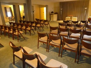 Our large and comfortable chapel is suitable for any type of visitation, funeral service or memorial service and is equipped with a public address system.  Also available is a Hammond organ and an audio system that plays either compact discs or from your portable device.