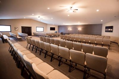 Our chapel is used for visitations, as well as services, and can accommodate 150 people.