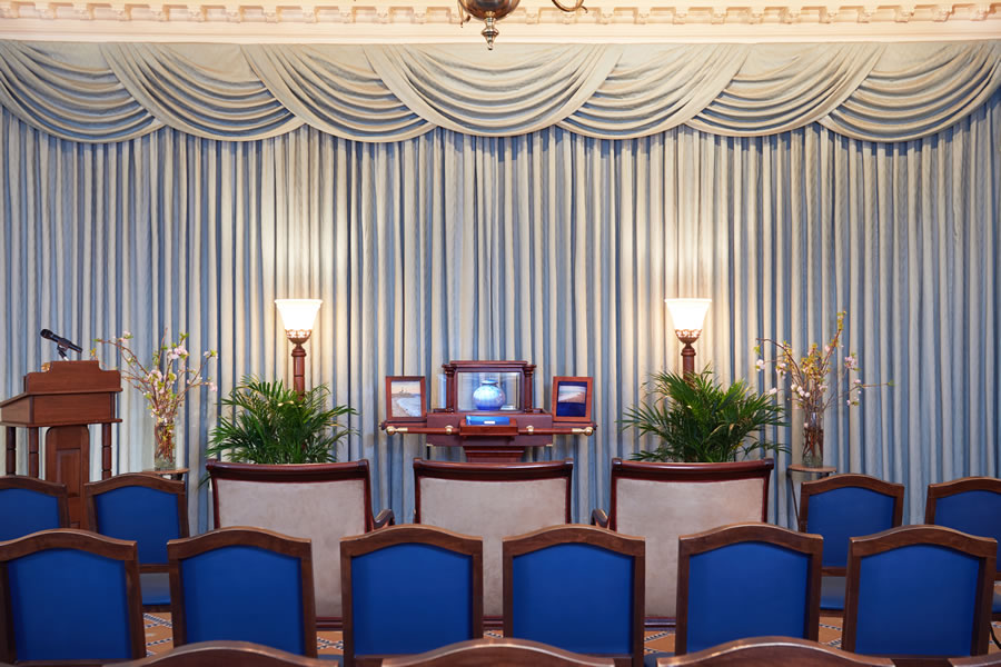 Set Up in Blue Room