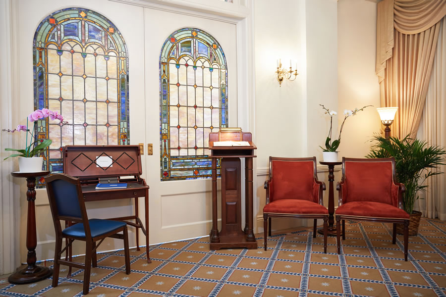 South Room Chairs Register Stand