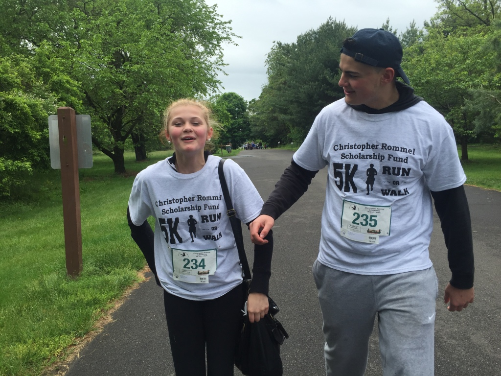 Emma and Noah Richardson at the Chris Rommel Memorial Walk/Run