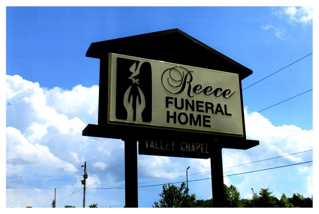 Reece Funeral Home Sign
