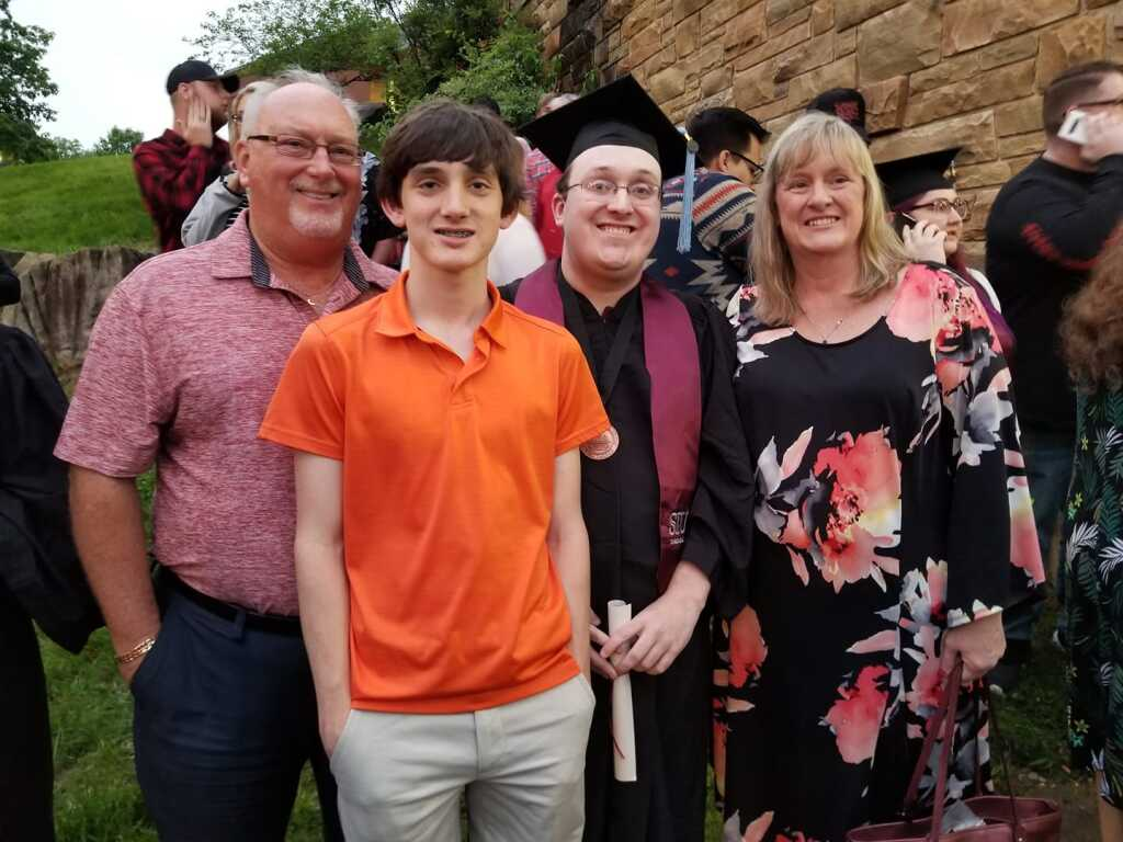 The Burke Family at Christopher's graduation ceremony from SIUC.