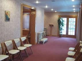 An inside view of our funeral home.