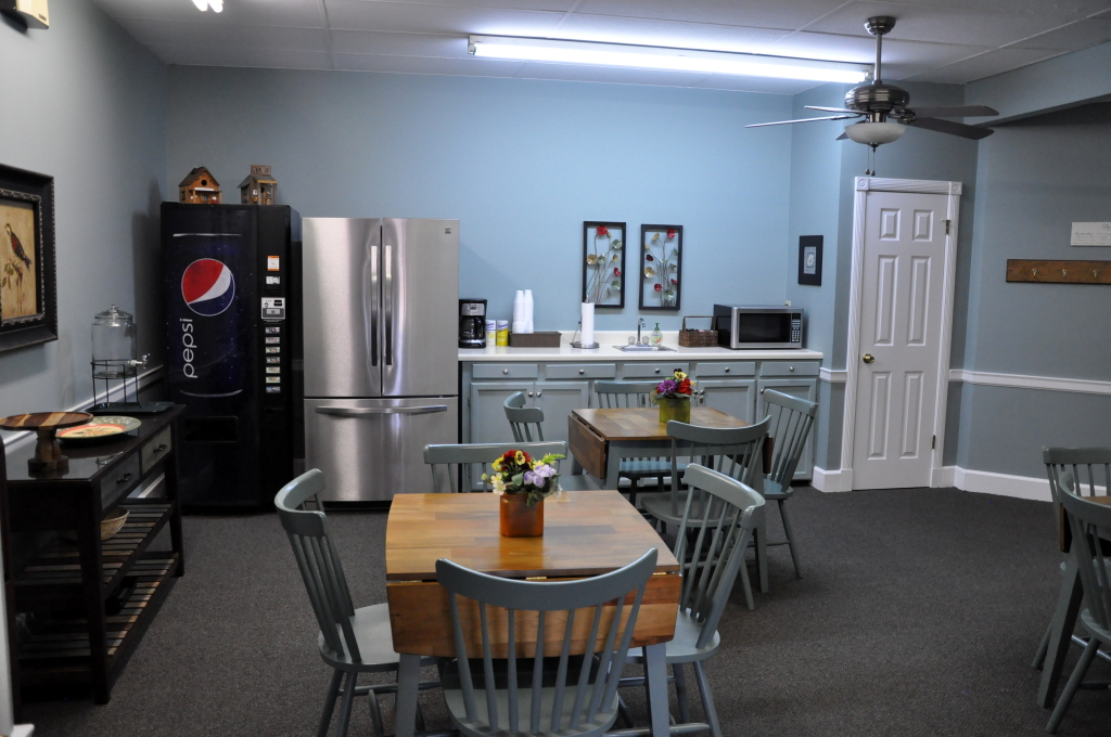 Our Refreshment Lounge for the convenience of family  and friends before and after services and visitation.