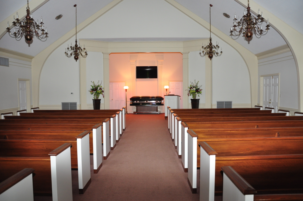Our Ripley Funeral Home Heritage Chapel provides the perfect tribute for both large or small gatherings.