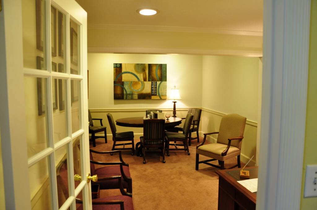 One of our private offices used for making funeral arrangements or to discuss pre-arrangements.