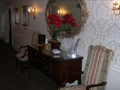 Hallway leading to the Funeral Home Entrance