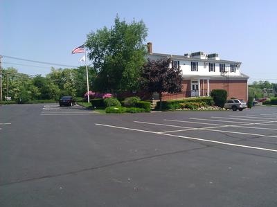 View of the rear of Funeral Home Parking Lot