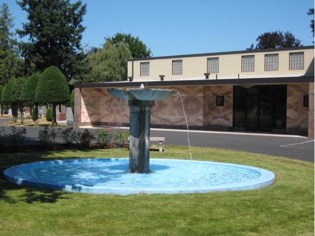 Fountain outside the chapel