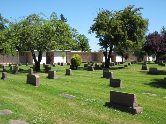 Outside the mausoleum