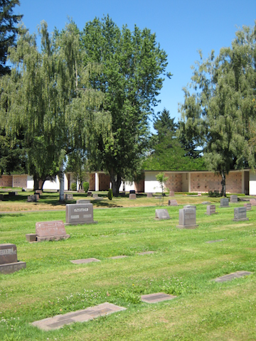 The cemetery grounds and mausoleum