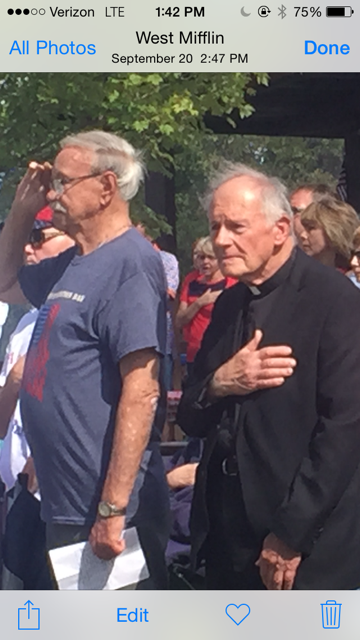 Mayor John J. Dindak and Fr. Mark Glasgow