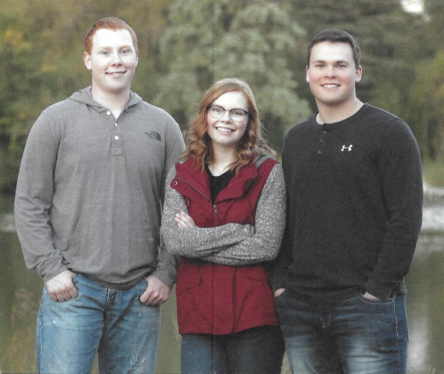 Jay, Julia and John Baldus - children of Lee and Lynn Baldus