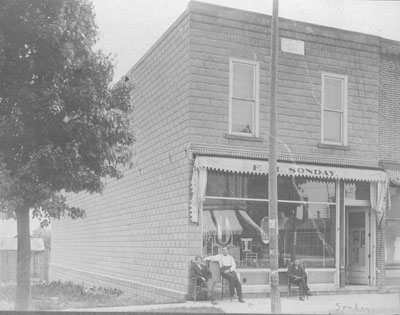 The Original F. M. Sonday Furniture and Undertaking in 1906