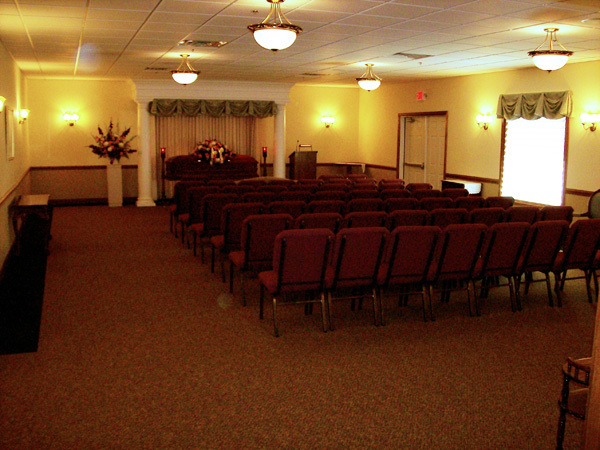 Our recently expanded north chapel provides a more spacious room with a distinguished look.