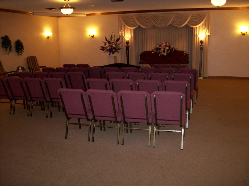 Our south chapel affords a comfortable setting that is conducive to traffic flow.