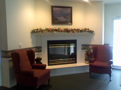 Fireplace at Entry