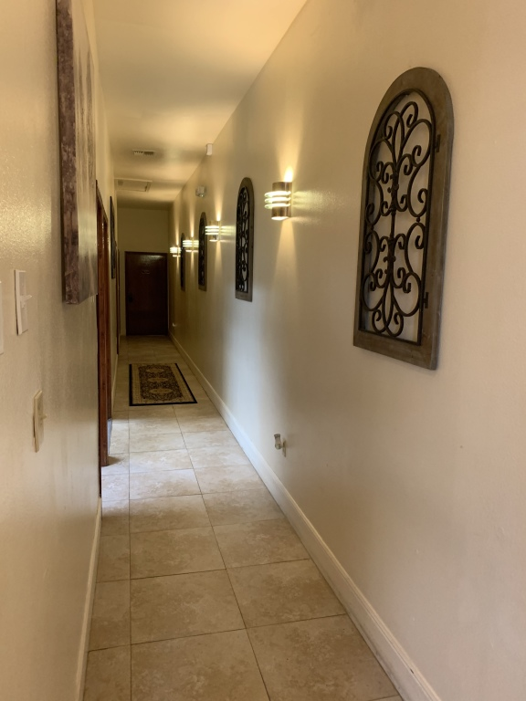 Funeral Home Hallway to Lounge and Restrooms