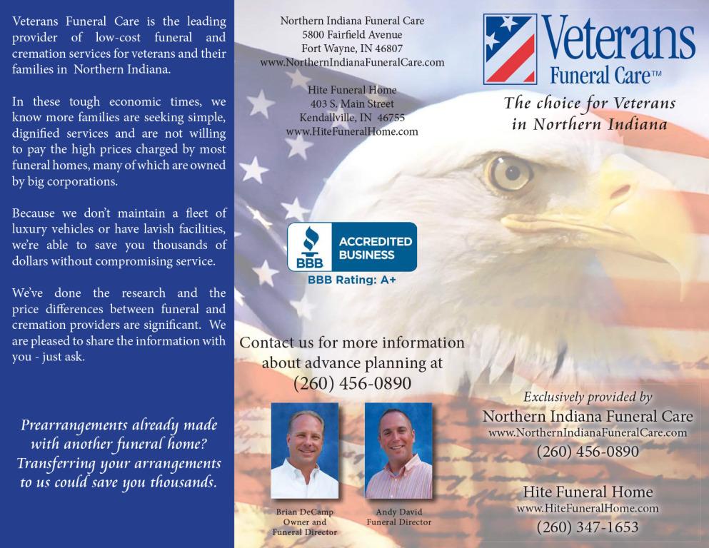 Veterans Funeral Care Tri-fold