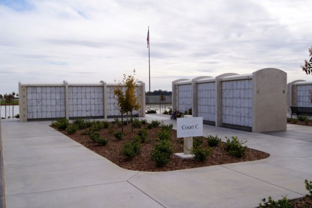 Cremation Columbarium above ground cremation interment Sac Valley National Cemetery