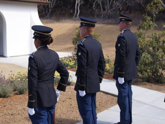 Honor Guard at CA Central Coast Veterans Cemetery