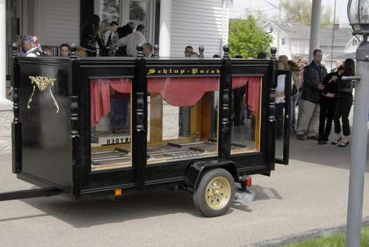 The Schlup-Pucak customized hearse.