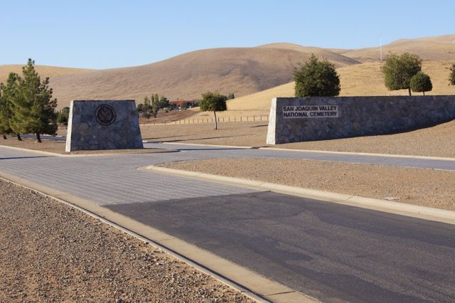 Entrance to San Joaquin Valley National Cemetery
