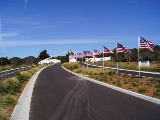 Entrance to CA Central Coast Veterans Cemetery