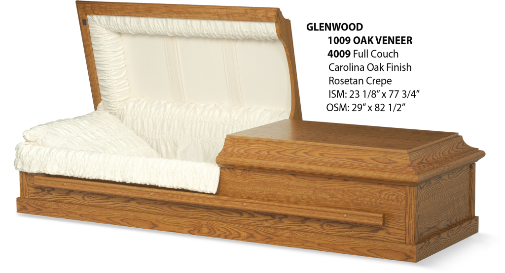 The Glenwood Veneer Hardwood Casket