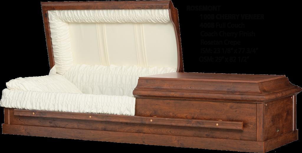 The Rosemont Veneer Hardwood Casket