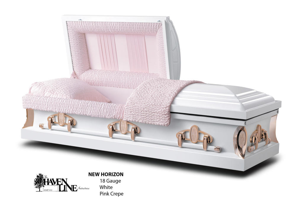 The New Horizon White  Pink 18 Ga. Steel