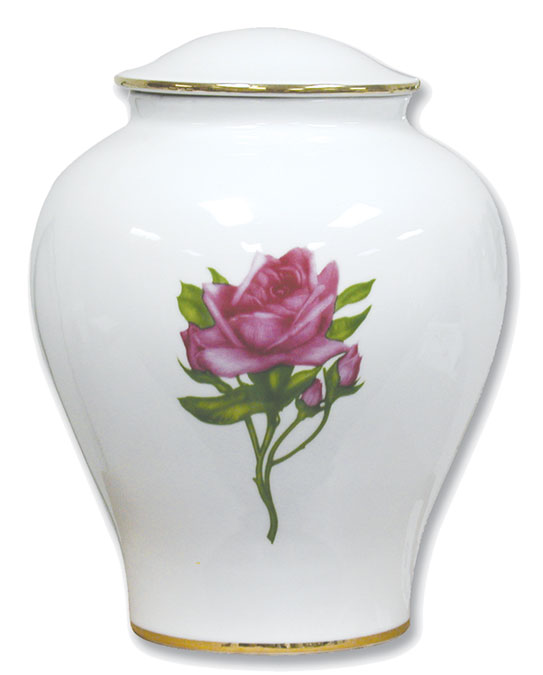 The Rose Porcelin Urn 30-C-300