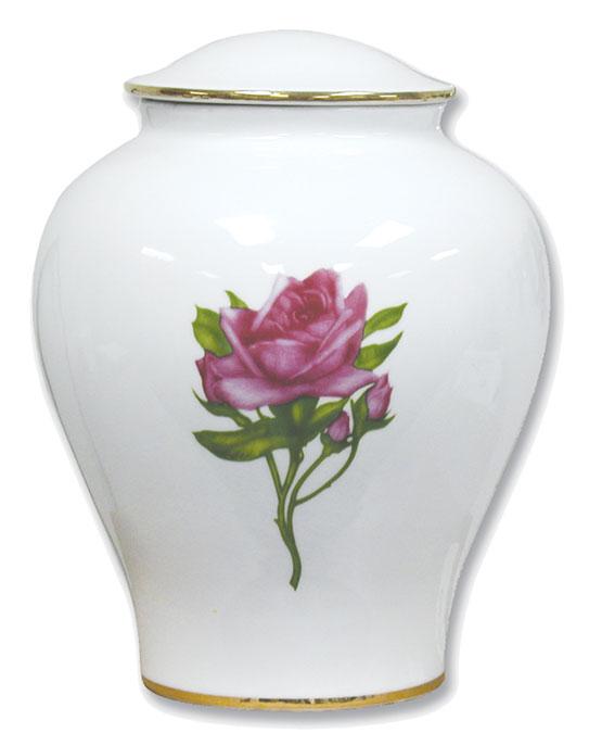 The Rose Porcelin Urn #30-C-300